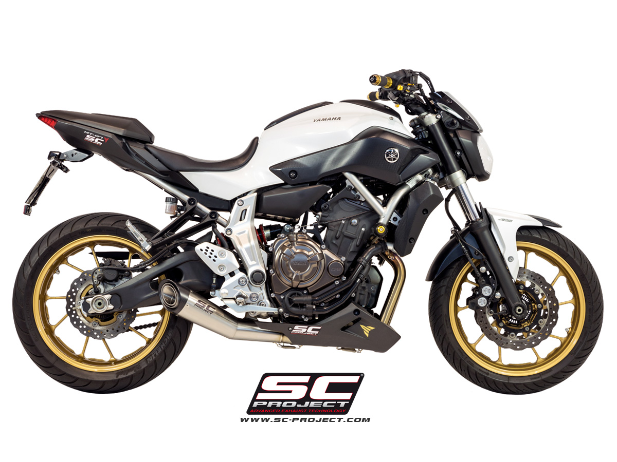 escape completo sc project s 1 silencer para yamaha mt 07. Black Bedroom Furniture Sets. Home Design Ideas
