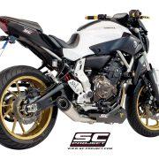Escape completo SC-Project S-1 Silencer para Yamaha MT-07 (Y14-C41A)