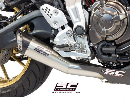 Escape completo SC-Project S-1 Silencer para Yamaha MT-07 (Y14-C41A)