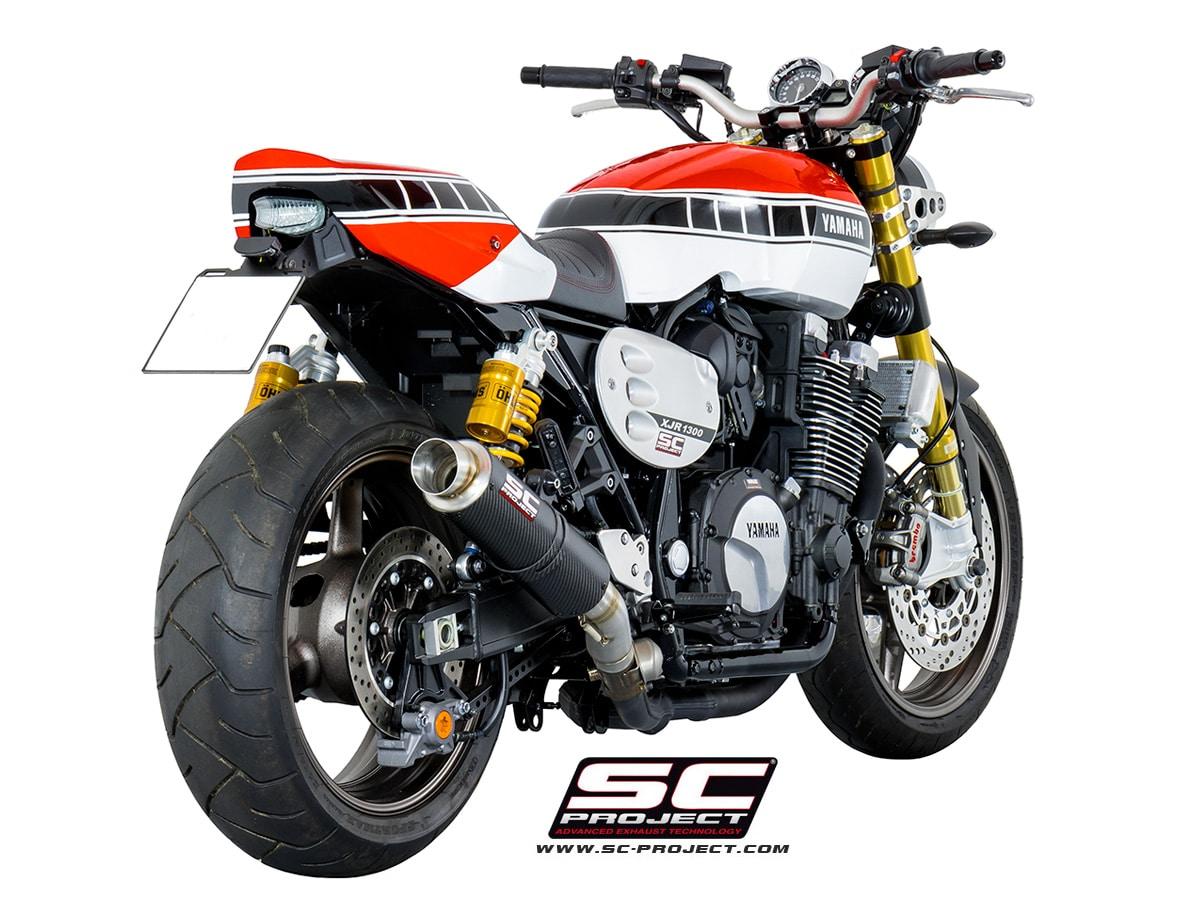 escape sc project gp65 para yamaha xjr1300 racer. Black Bedroom Furniture Sets. Home Design Ideas