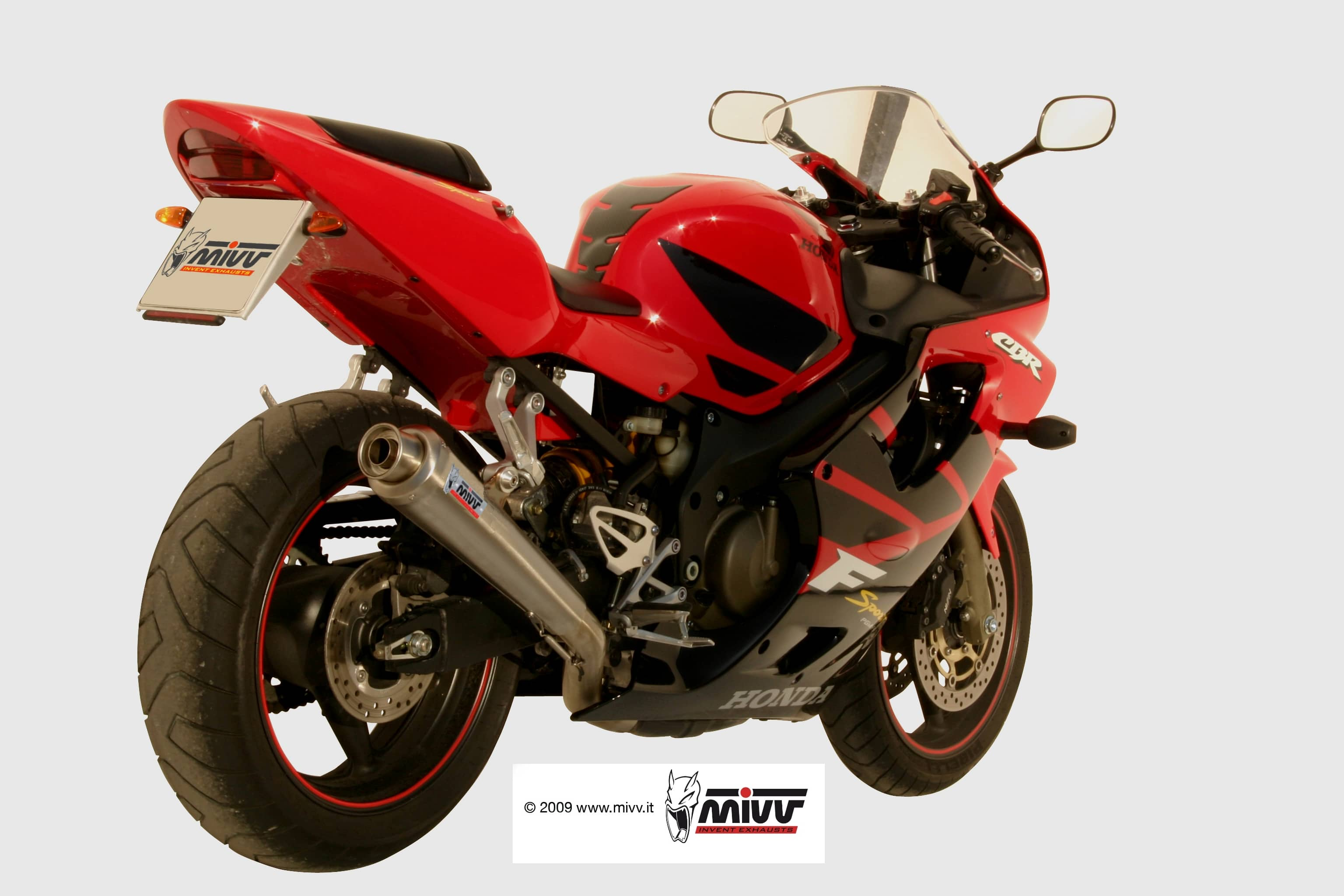 Escape Mivv GP Honda CBR 600 F Sport 01-02 Carbono