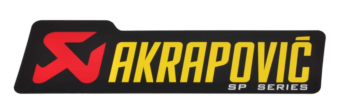 Akrapovic STICKER AKRAPOVIC 90 MM