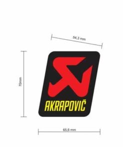 Adhesivo termoresistente 70x66 Akrapovic STICKER - P-VST4PO
