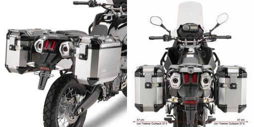 Portamaletas lateral camside GIVI Yamaha XT 660Z Ténéré 08-16 - PL2105CAM