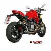 Silencioso STORM GP Inox Negro Ducati Monster 1200 17-19 - 74.D.041.LXSB
