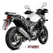 Silencioso Storm Oval Inox Suzuki DL V-Strom 650 17-19 - 74.S.049.LX2