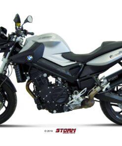 Silencioso Storm Oval black BMW F800R/GT 09-19 - 74.B.008.LX2B