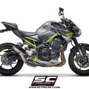 Silencioso SC-Project CRT Carbono para Kawasaki Z900 2020 - K34-T36CR