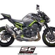 Silencioso SC-Project SC1R Carbono para Kawasaki Z900 2020 - K34-90C