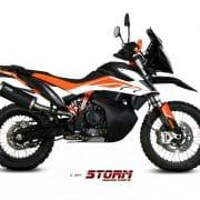 Silencioso STORM GP Inox Negro KTM 790 ADVENTURE/R 19-20 - 74.KT.021.LX2B