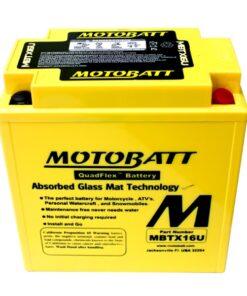 Batería Motobatt MBTX16U - Equivale a YTX16BS--YTX20CHB - 2227M