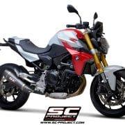 Silencioso SC-Project cónico fibra de carbono BMW F 900 R 2020 - B36A-34C