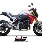 Silencioso SC-Project SC1-R con tapa de fibra de carbono BMW 900 R 2020 - B36A-90