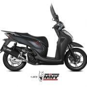 Silencioso MIVV Mover Inox Barnizado Negro Honda SH 300 15-20 - MV.HO.0001.LV