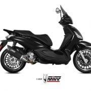 Silencioso MIVV Mover Inox Barnizado Negro Piaggio Beverly 300 10-20 - MV.PG.0001.LV