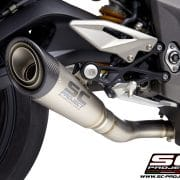 Silencioso SC-Project S1 Titanio con tapa de fibra de carbono TRIUMPH STREET TRIPLE 765 S/R/RS 2020 - T18C-LTS41T