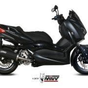 Silencioso MIVV Mover Inox Barnizado Negro Yamaha X-MAX 300 17-20 - MV.YA.0001.LV