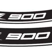 Adhesivo llantas para Kawasaki Z900 Puig Blanco - 9291B