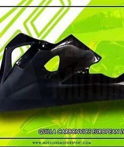 Quilla Carbonvice Street negra para Kawasaki Z1000 11-19