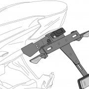 Portamatrícula Puig para Suzuki GSX-R 1000 - 2558N