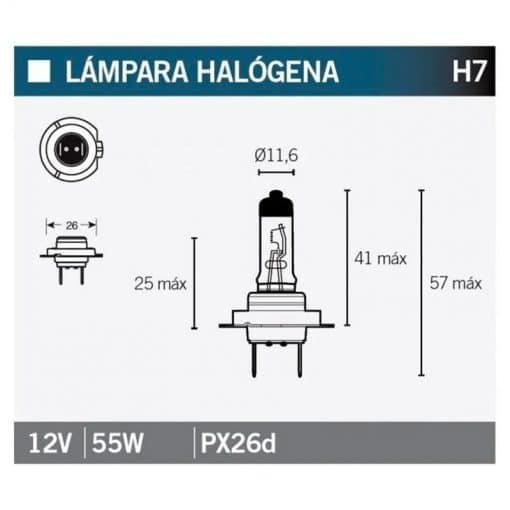 Bombilla Tecnium halógena H7 - 14641