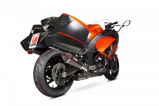 Escape Scorpion Serket cónico Carbono Kawasaki Z1000SX Con maletas 14-16 - RKA108CEO