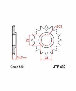Piñón 16 Div. 520 JT Sprockets - JTF402.16