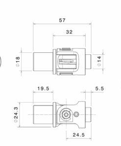 Kit de montaje articulados autoblocantes para Estriberas Rizoma - PE611A