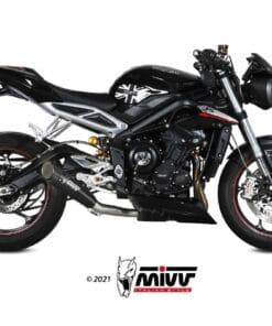 Escape MIVV X-M5 negro Triumph Street Triple R/S/RS 17-21 - T.019.SC5B